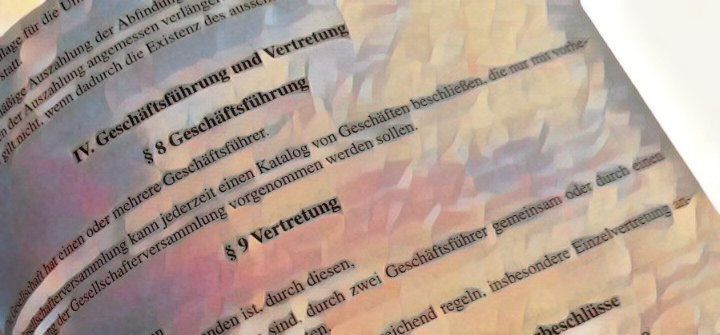 GmbH-Satzung Klausel Geschäftsführer