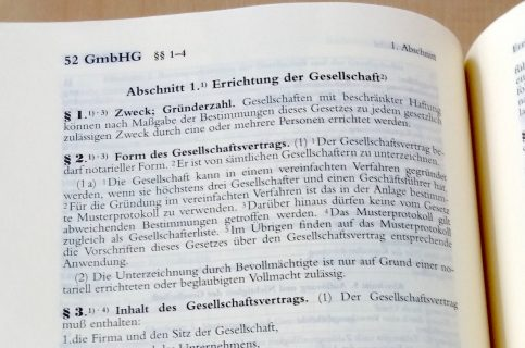 GmbH-Recht Gesetzestext